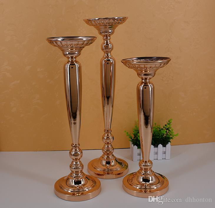 The wedding prop path gold plating column European style flower ware stage master table vase WQ15