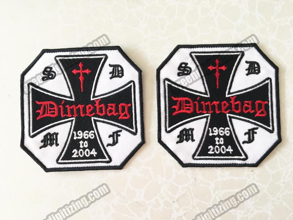 Cool SOCIETY DIMEBAG MEMBER FAN TRIBUTE Christian Embroidered Patch Motorcycle Biker Gothic Punk Patch Iron On 3.5 Free Shipping