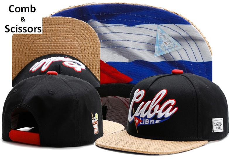 f96ef8441a0 Wholesale- Brand Comb Scissors C S CUBA LIBRE CAP Black Snapback Hat Men  Women Adult Hip Hop Outdoor Sports Unisex Sun Baseball Cap Sun Cap Women  Sun Cap ...