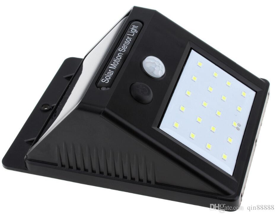 Lampada di sicurezza a raggi infrarossi del percorso solare a LED sensore di luce del corpo umano Movimento induzione lampada esterna di emergenza della luce solare del giardino