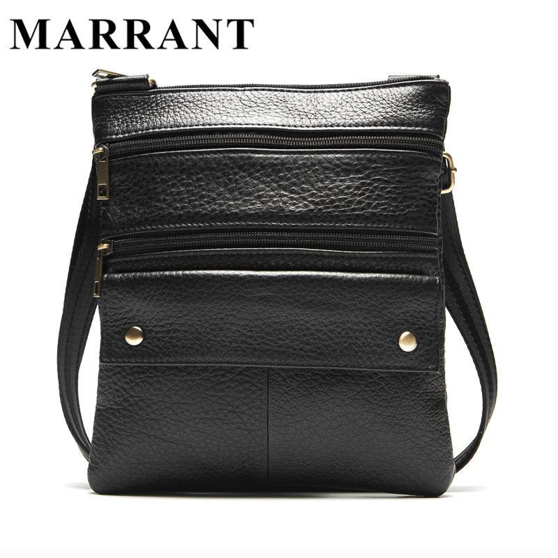 Wholesale- MARRANT Men Bags Genuine Leather Man Coin Purse Shoulder ... 02ae3d4e479f1