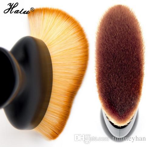 Halu Contour Escova Fundação S Forma Creme Pincéis de Maquiagem Pó Solto Pincel Multifuncional Compõem Escovas Com Proteger Tampa
