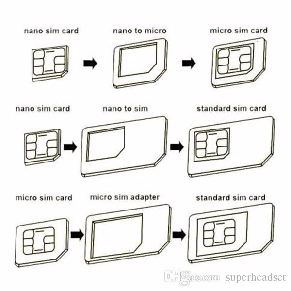 4 в 1 Адаптер Nano Sim-карты + адаптер Micro Sim-карты + стандартный адаптер SIM-карты с извлечением pin-кода для Iphone 5 5s 6 6s 6 plus для iphone