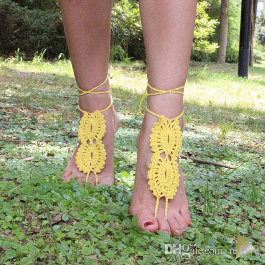 infinity Beach Crochet wedding Barefoot Sandals, Nude shoes, Foot jewelry, Bridal, Victorian Lace, Sexy, Yoga, Anklet Flip Flops