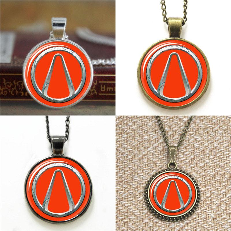 Wholesale Borderlands Vault Symbol Pendant Glass Photo Necklace