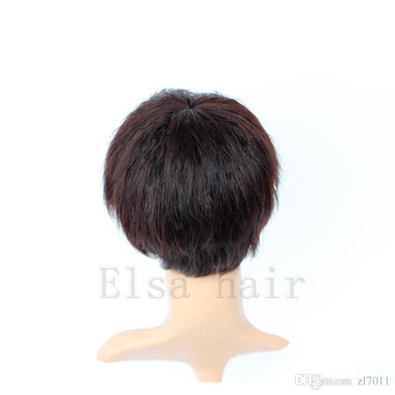 New Arrival Short Human Hair Cut short hair style full Wig Cheap African American Short Wigs for Black Women