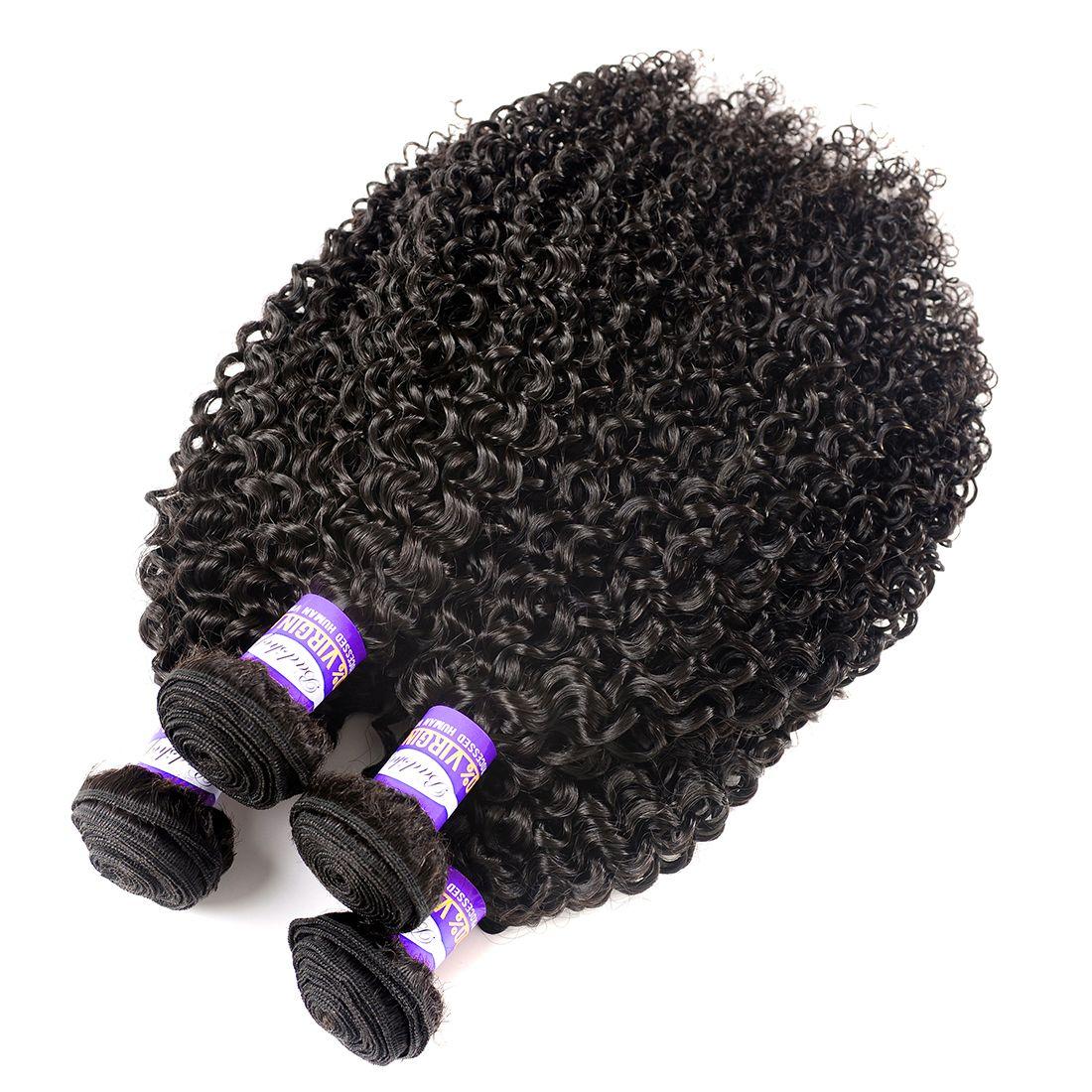 Peruanisches kinkiges lockiges jungfräuliches Haar Afro kinky lockig 3 4 Bündel peruanisches Reines Haar 10A Unverarbeitete menschliche Haare webt natürliche Farbe 10-28