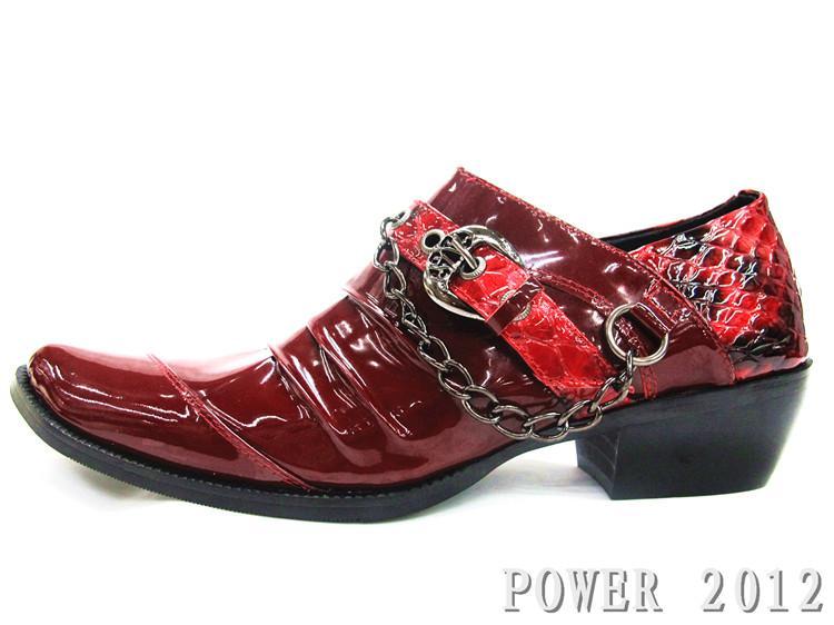 Zapatos Hombre Red Man's Shoes, Scarpe da sposa uomo, scarpe a punta con tacco alto, scarpe casual da uomo in pelle casual