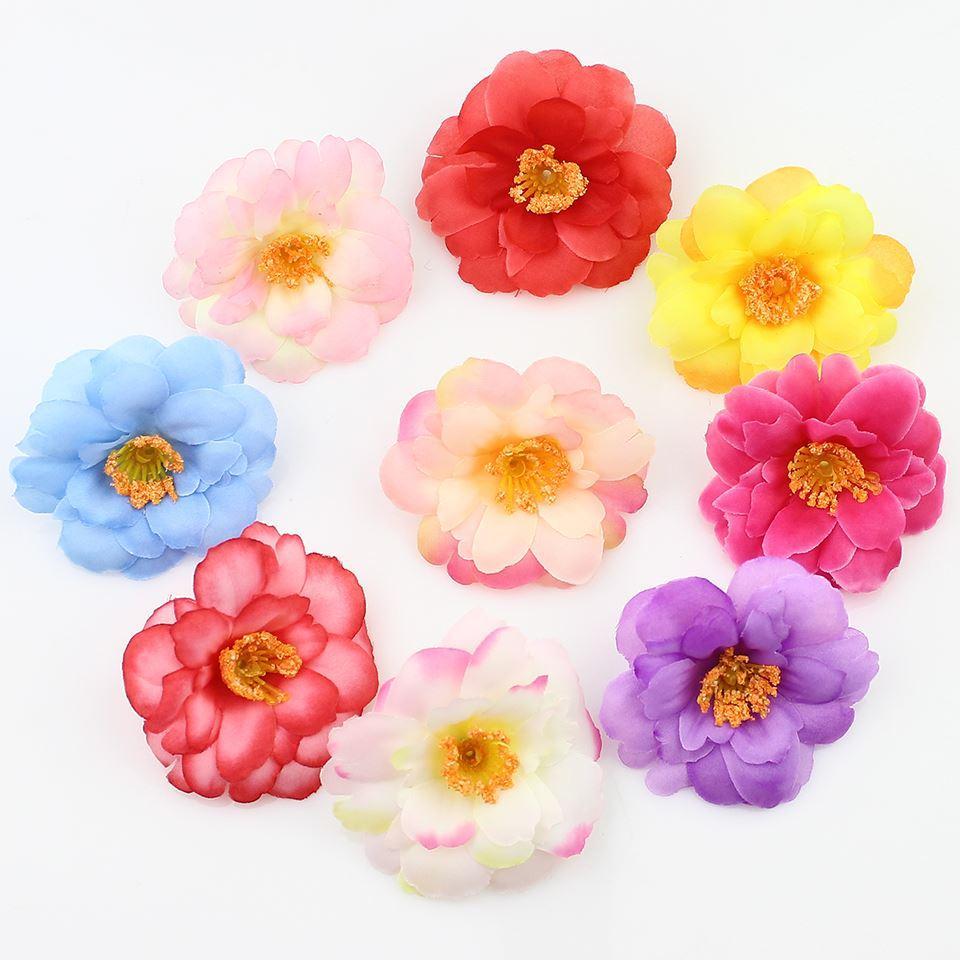 Online Cheap 6cm Silk Plum Artificial Flower Heads For Diy Wedding
