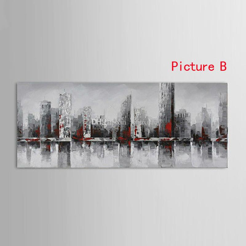 New York City Picture Canvas 100% handmade American Style Modern Abstract knife Oil Painting Home Office Wall Art