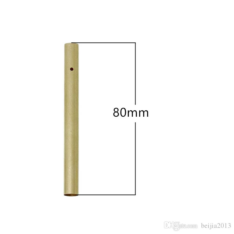 DIY pure color fengling hand-made material process aluminium tube metallic hollow air bell tube gold diameter 80MM * 8.5 mm 0803