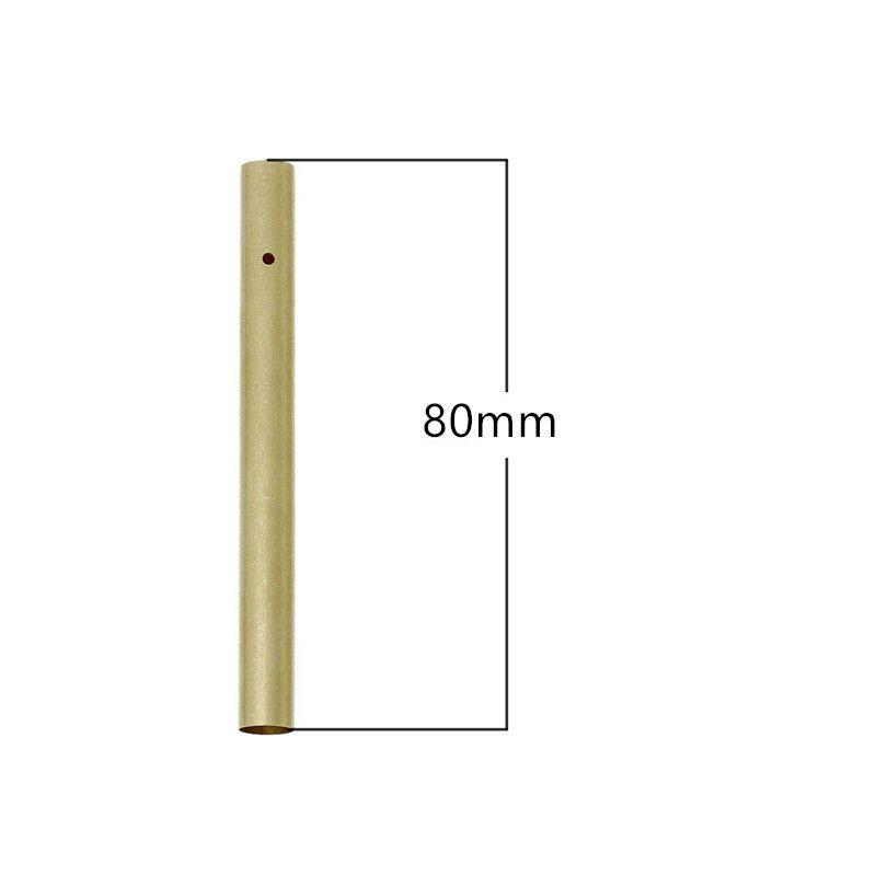 Fai da te colore puro fengling processo a mano materiale tubo di alluminio metallico tubo aria campana d'aria diametro 80MM * 8,5 millimetri 0803 d'oro