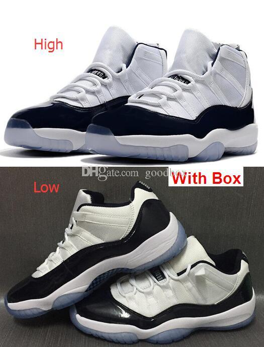 4122f658c80917 Midnight Navy 11s Midnight Navy LOW High GG XI Blue Moon Basketball Shoes  With Box Men Size Best Basketball Shoes Womens Basketball Shoes From  Goodbox