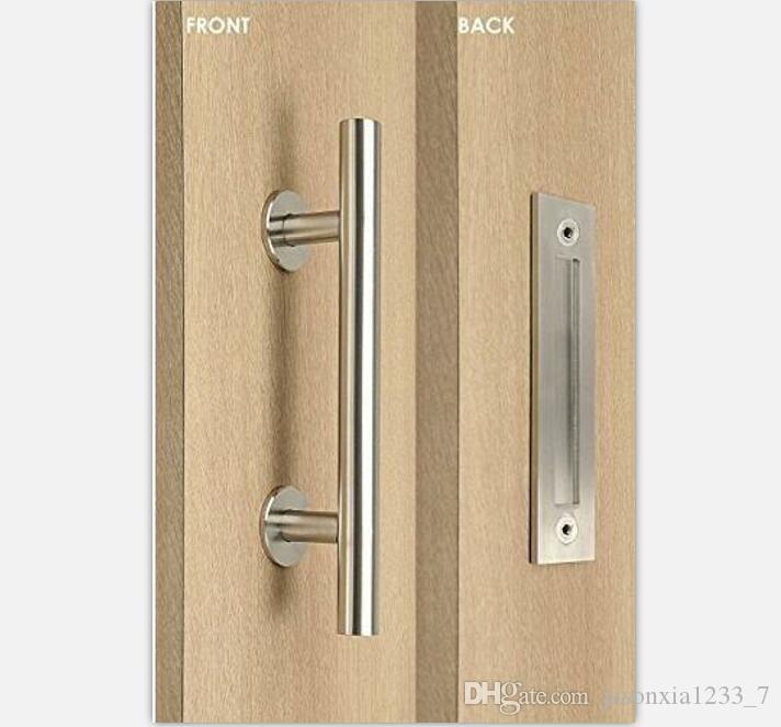 Stainless Steel Barn Door Handle Pull&Wooden Sliding Door Handle ...