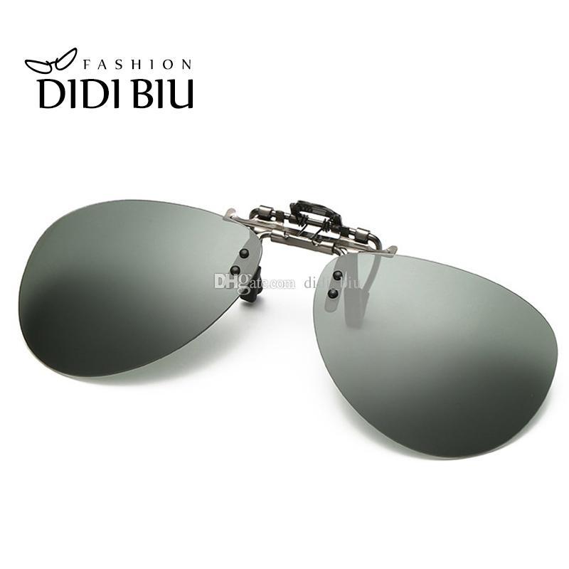 c34555b779c DIDI Alloy Frame Polaroid Sunglasses Clip Flip Up Driving Glasses Men Women  Goggle Clip On Eyewear Folding Oculos De Sol H290 Canada 2019 From  Didi biu