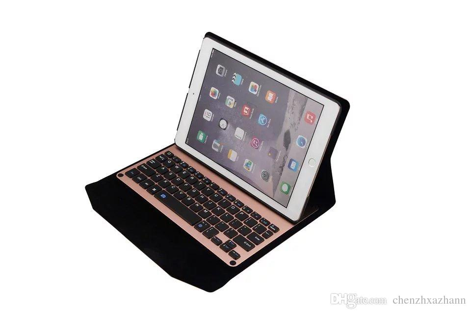 2017 new Stand Pu Leather cover case For Apple iPad6 Air 2 Tablet protective sleeve shell keyboard