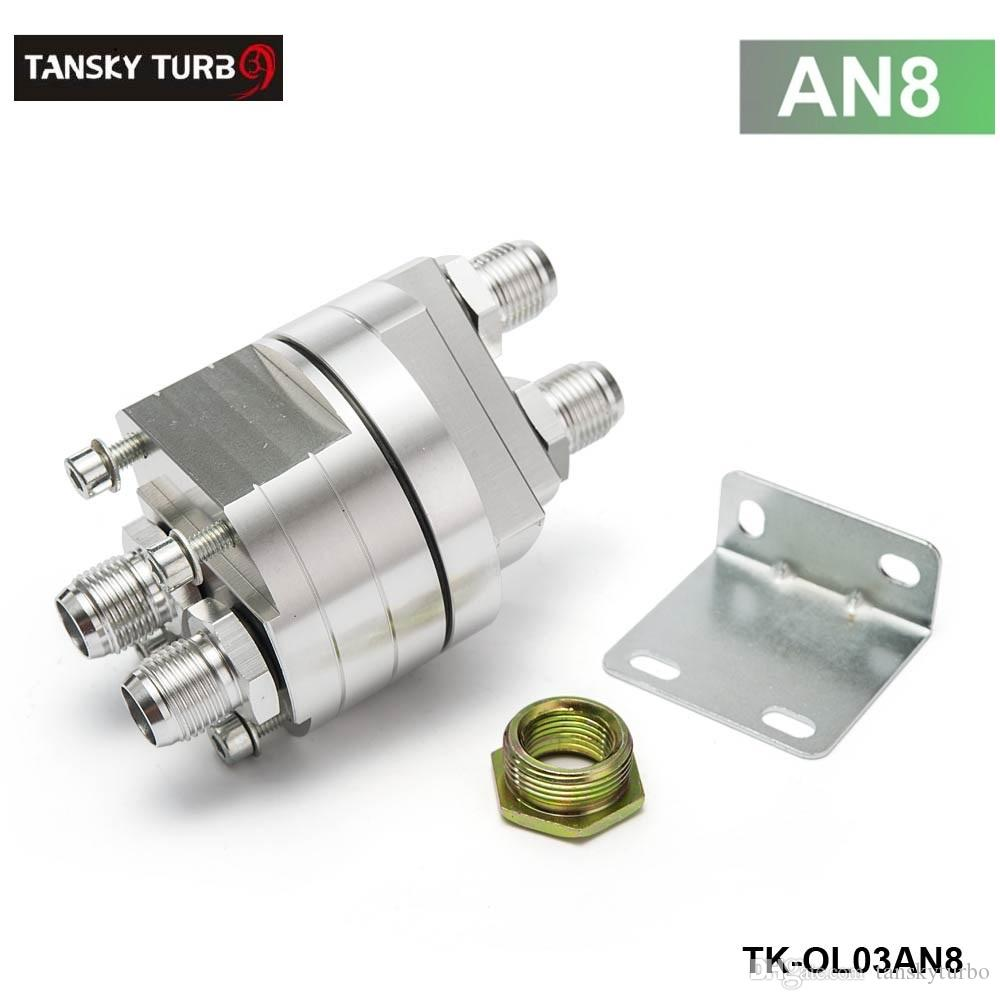 TANSKY - Hoge kwaliteit Universele Oliefilter Koeler Sandwich Plaat Adapter Zilver TK-OL03 AN8 / AN10 hebben op voorraad