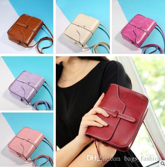 e6c0ba8ca8 Famous Brand Design Small Square Flap Bag Mini Women Messenger Crossbody Bags  Sling Shoulder Leather Handbags Purses DHL Name Brand Purses Handbag Sale  From ...