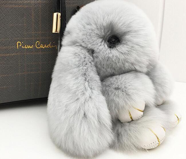 14cm/ 18cm soft Plush bunny toy doll decorative Rex rabbit pendant stuffed backpack key chain gift