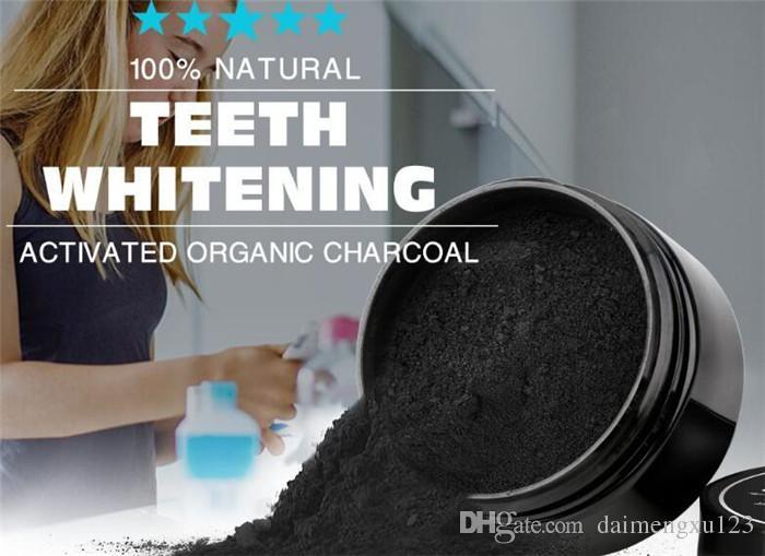 Sbiancamento dei denti Natura Bambù Attivato Carbone di legna Sorriso in polvere Decontaminazione Dente Macchia gialla Bambù Spazzolino Dentifricio Cura orale X040