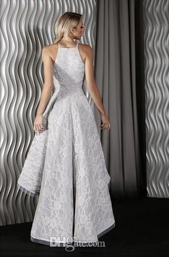 2017 Cheap Sexy High Low Halter Lace Backless Prom Dresses Splendido Sexy Senza Maniche Abiti De Fiesta Arabo Dubai Borgogna Abiti Da Sera
