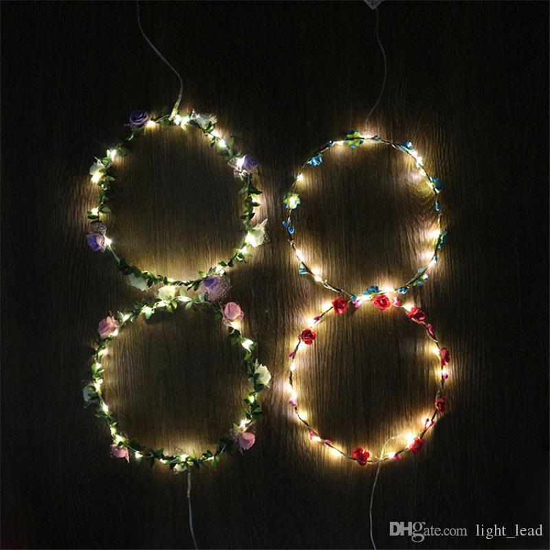 Серебряная линия 2М 20LED струнные светильники Сид с коробкой батареи кнопки CR2032 для вечеринку Рождество Фея свет