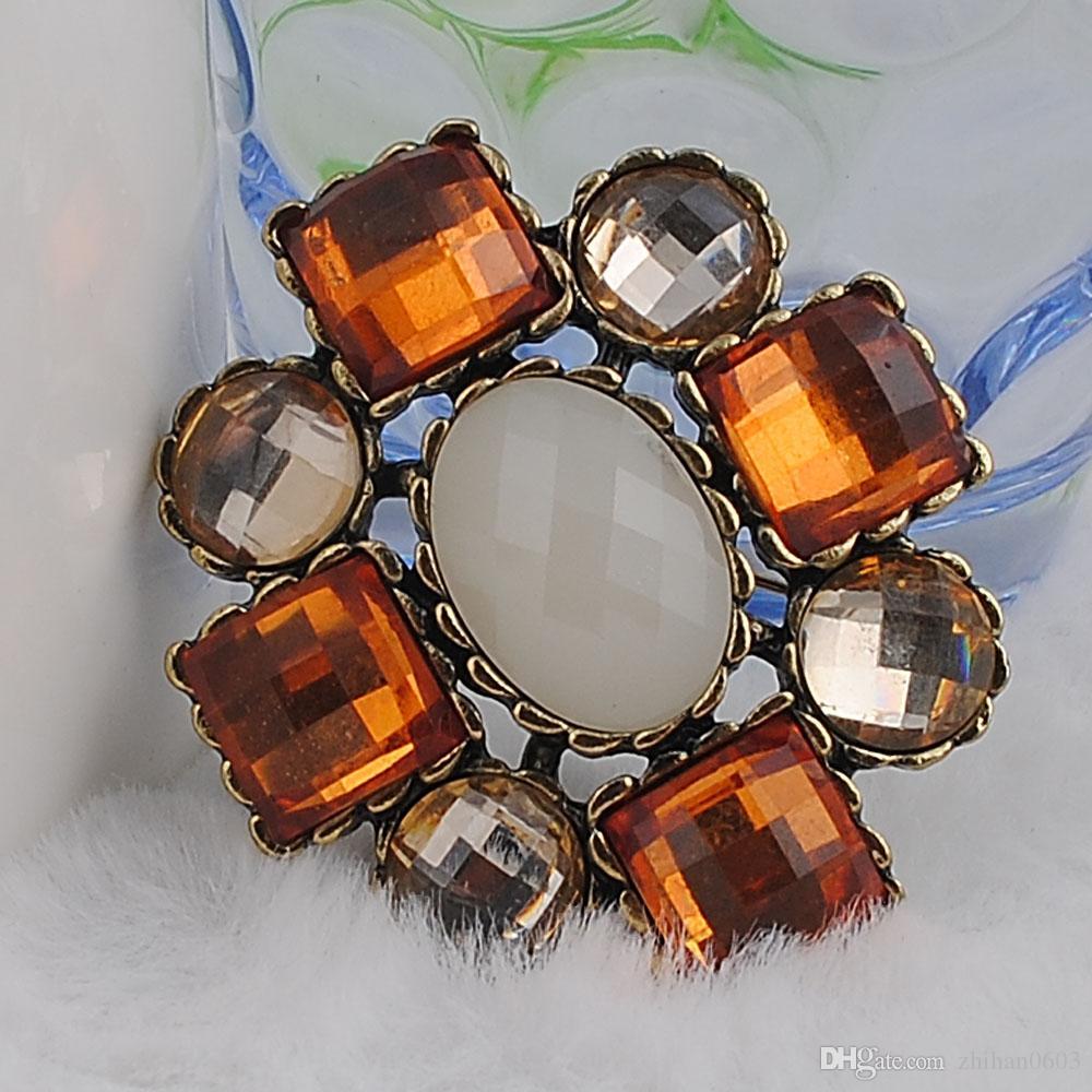 Broche Haute Qualité Mer Bleu Cristal Acrylique Strass Broches Broches Épinglettes De Mariage Insignes De Bijoux avec Épingle De Style été Bijou