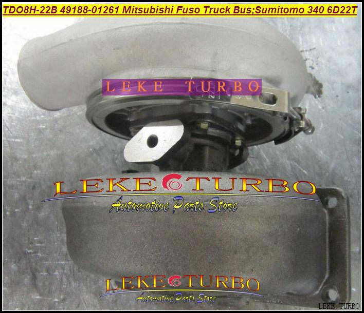 TD08H TDO8H-22B 49188-01261 Turbocharger For Mitsubishi Fuso Truck Bus; SUMITOMO340 6D22T Various Engine 6D22T 6D22T3 (3)