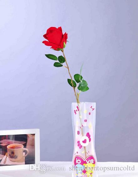 DIY 꽃 MIX 크기 접히는 PVC foldable 작은 opp 부대 신뢰할 수있는 접히는 꽃병에서 eco 친절한 꽃병