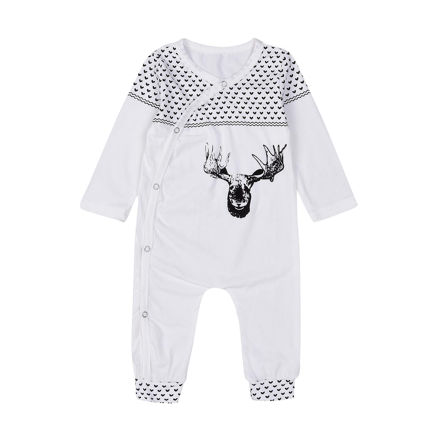 800ec7993 2019 Mikrdoo High Quality Christmas Clothes Baby Suits Kids Boys Girls Deer  Print Infant Sleepwear Cotton Warm Romper Jumpsuit Xmas Outfits 0 18M From  ...