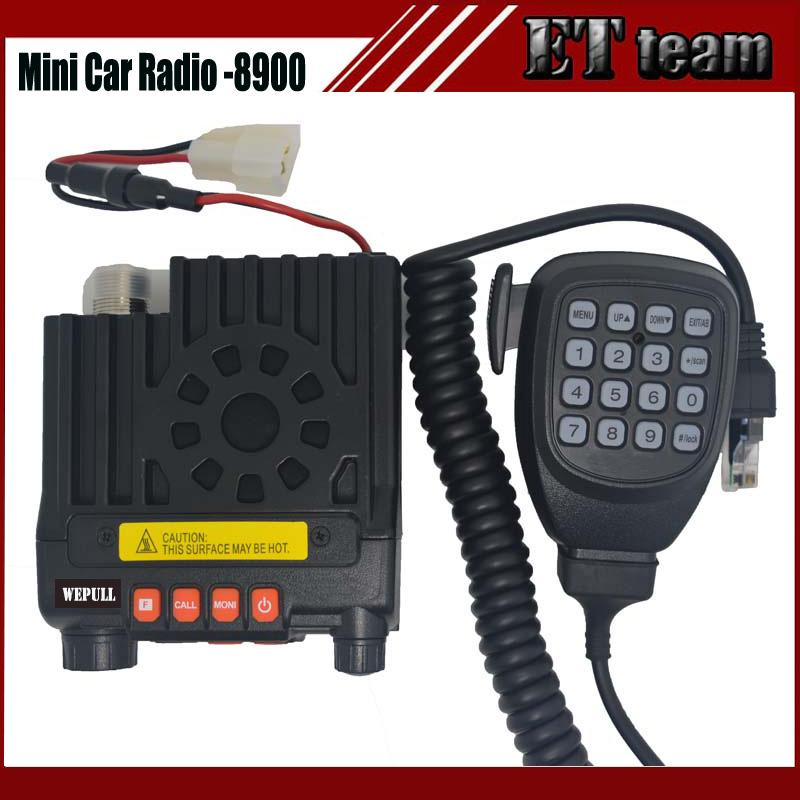 Wholesale- New two way Mini car mobile radio mini-8900 cb radio transceiver  dual band136-174&400-480MHz two-way CB radio walkie talkie 8900