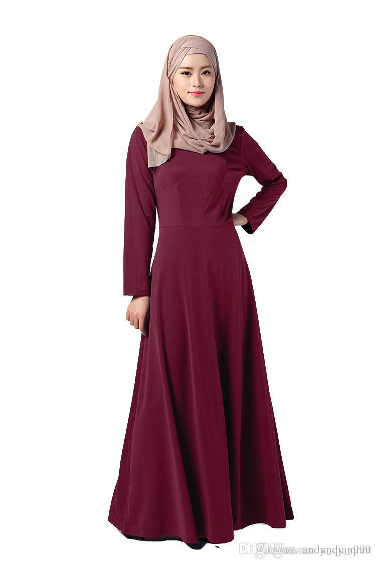 Middle east women robes solid color islam fashion muslim festival middle east women robes solid color islam fashion muslim festival ramadan holiday clothing ladies casual dresses 039 muslim arab robes islam middle east sciox Images