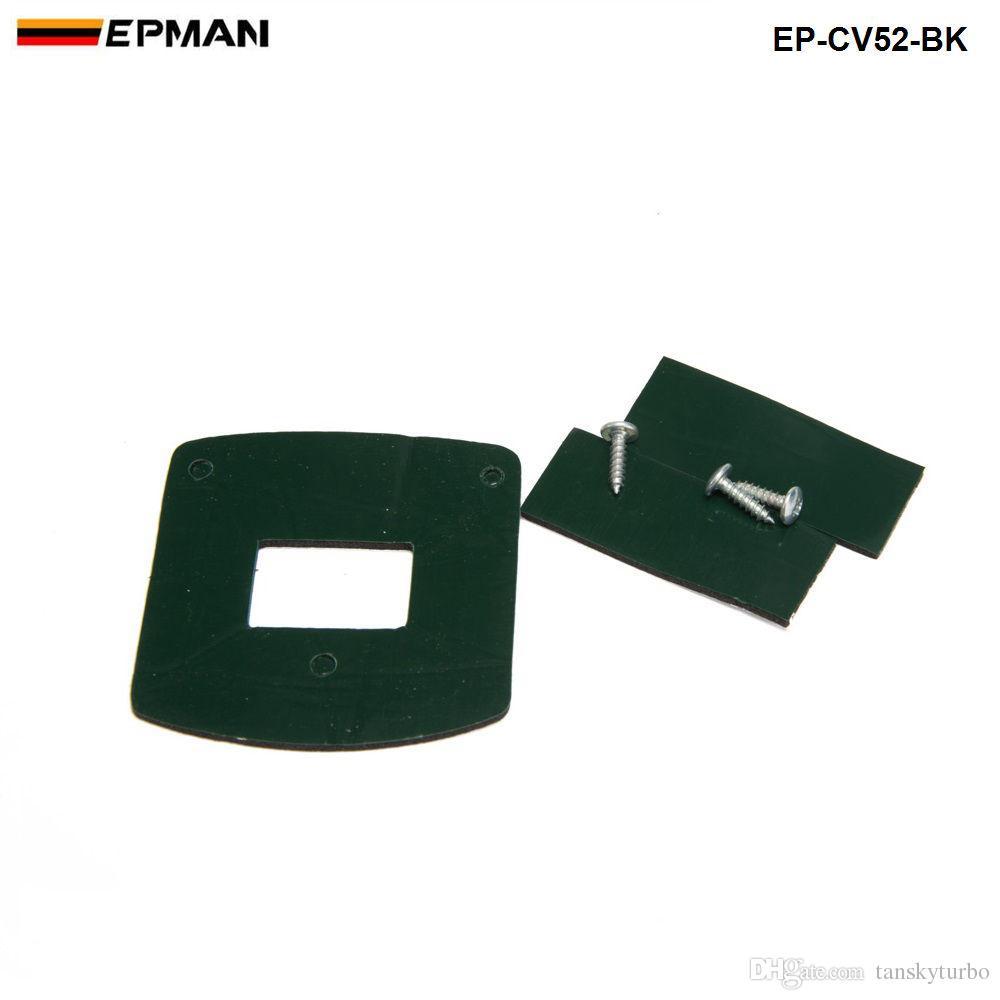 EPMAN-Ölçer Pod 52mm Evrensel Ölçer Kupası Araç Montaj Tutucu Plastik Tek Oto Araba Metre Bakla Dash Pod Montaj Dirseği EP-CV52-BK