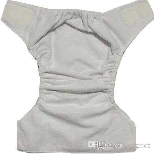 新しい多色の赤ちゃんの布のおむつサプライヤー漫画幼児の赤ちゃん再利用可能な布のおむつ50 + 50ピースの挿入ダブルガセットおむつ送料無料