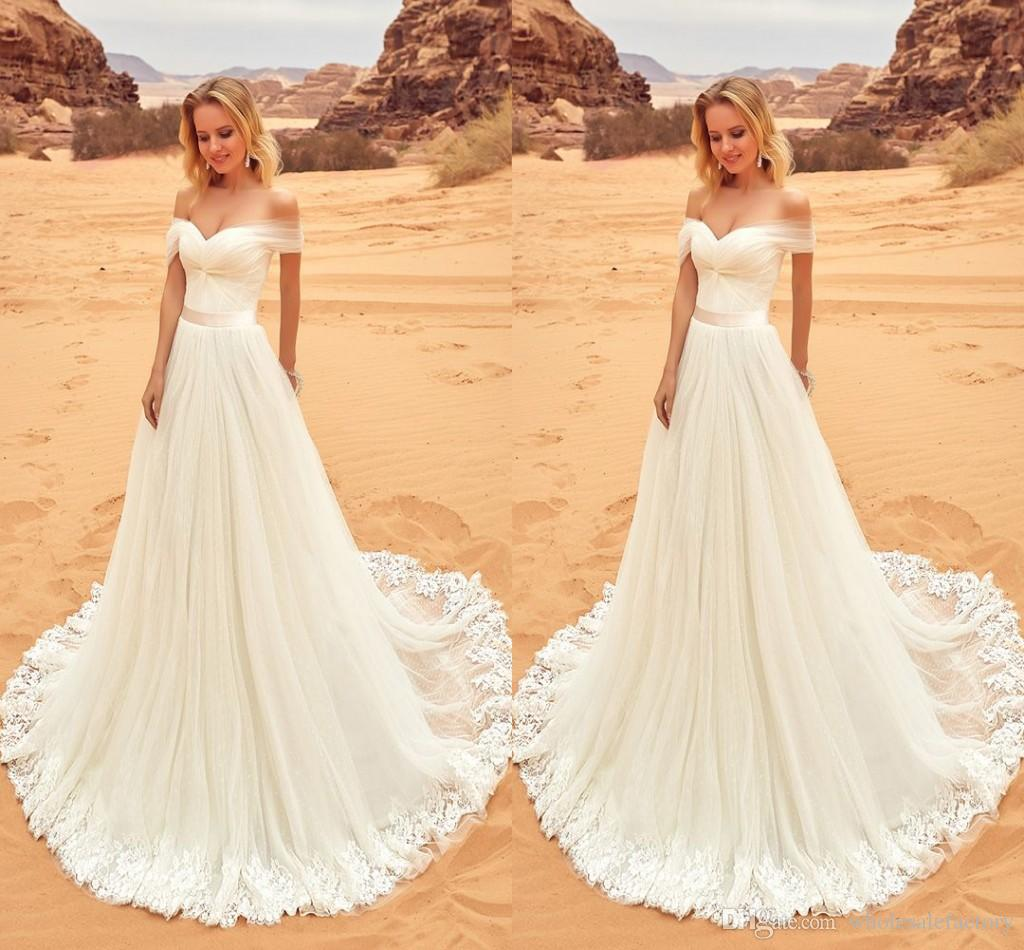 Discount 2018 Western A Line Wedding Dresses With Cap Sleeve ...
