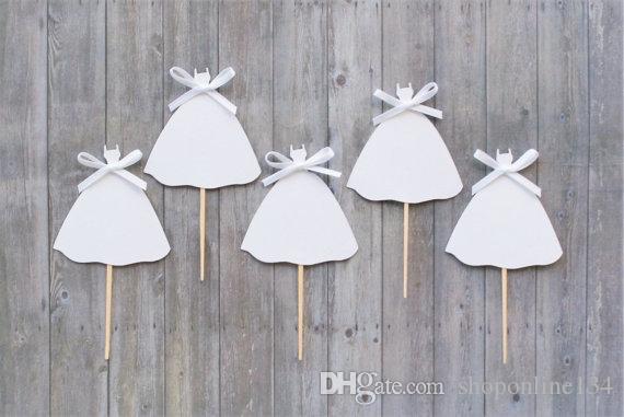 Großhandel Glitter Braut Kleid Cupcake Toppers Unter Dem Meer ...