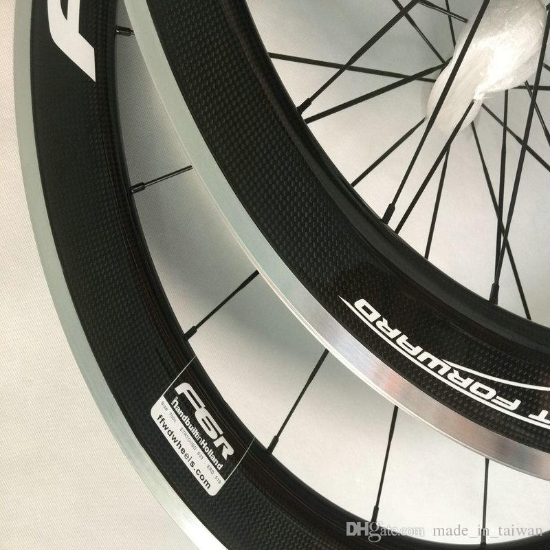 HOT sale 700C alloy brake carbon wheels road bicycle carbon wheel aluminium clincher road wheelset 50mm bicycle wheels