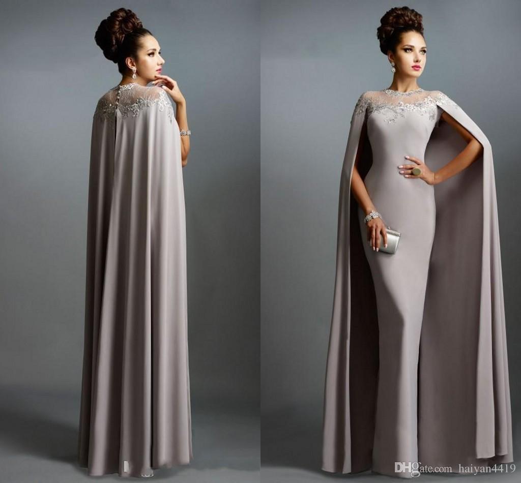 Robe cape blanche longue