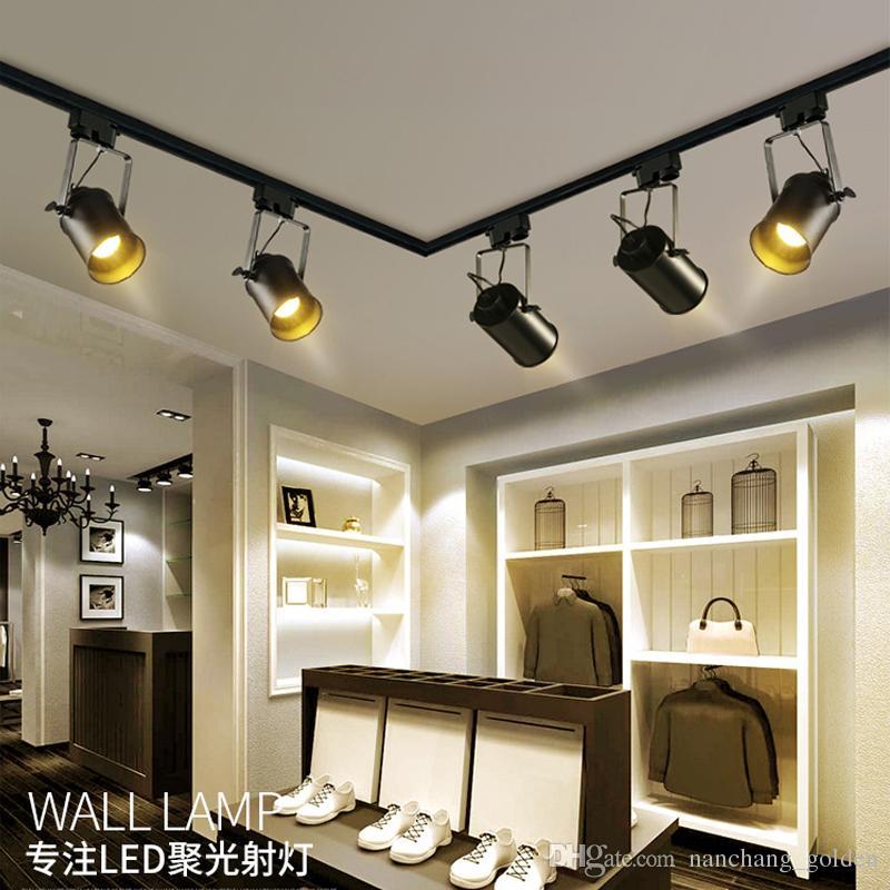 Modern Led Track Spotlights Clothing Stores Modeling: 2019 Led Vintage Clothing Store Room Bar, Track Lighting