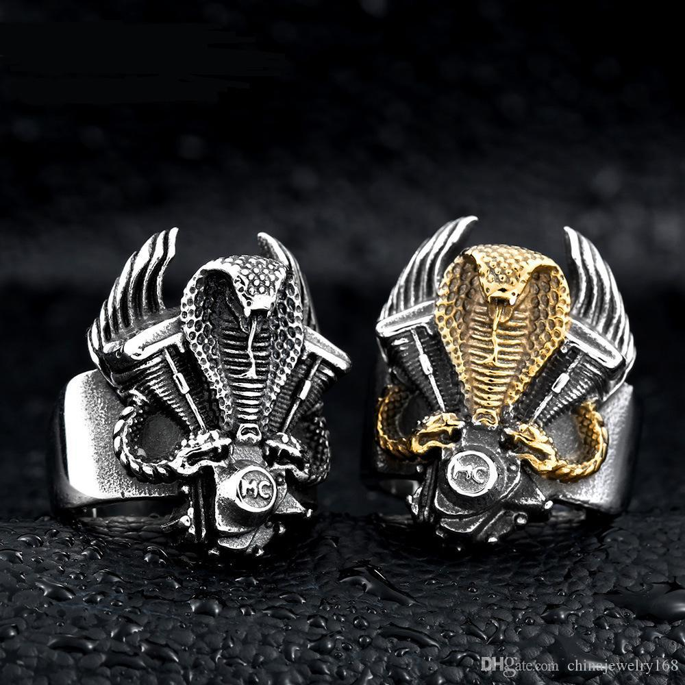 rings pcs silver stainless gold vintage men club support world lot band steel store jewelry product