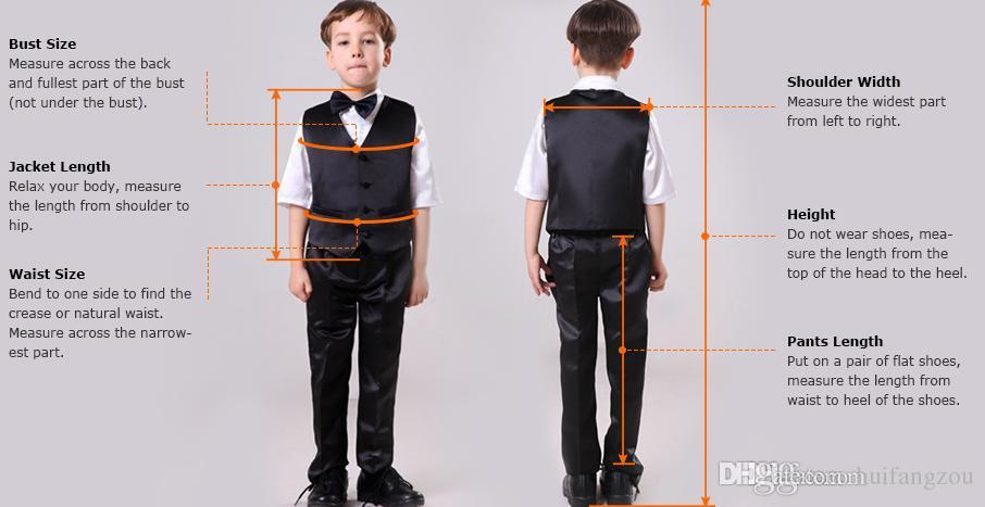 Handsome Boy's Formal Occasion Tuxedos Little Men Suits Grey Children Kids Wedding Party Tuxedos Boy's Formal Wear Jacket+pants+vest
