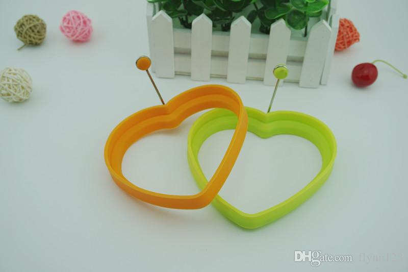 Silicone Egg Rings - Non Stick Fried Egg Mold - Pancakes Maker Molds - Breakfast Egg Sandwich Cooker Maker