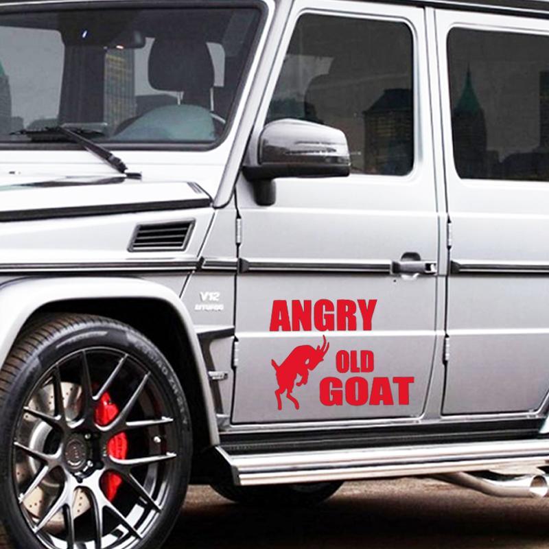 حار بيع سيارة Stying غاضب الماعز القديم ملصق سيارة شاحنة نافذة المصد السيارات Suv الباب رسومات الفينيل الشارات Jdm
