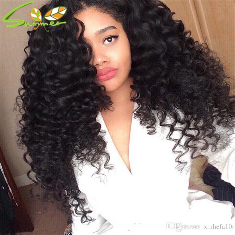 8A Grade Brazilian Lace Front Human Hair Wigs Deep Curly Full Lace Human Hair Wigs With Baby Hair For Black Women