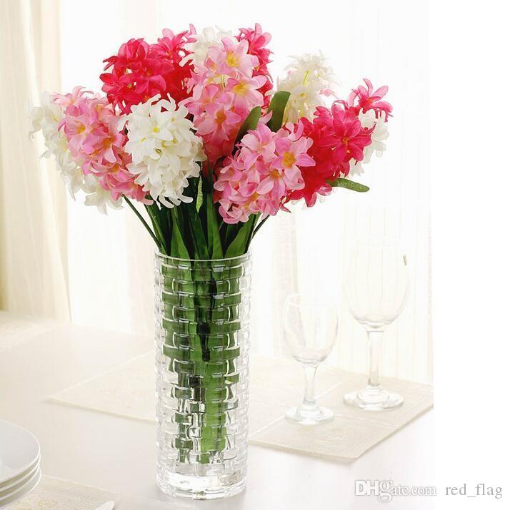 Silk Hyacinth Flower Artificial Solar Power Flowers for Wedding Decorations FakeLamp Bouquet Home Decor Party Decoration LLFA
