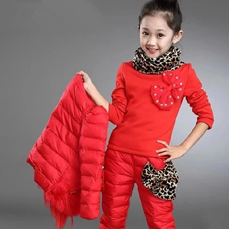 3 10 Y Children Clothing Sets Girls Winter Jacket Down Cotton ...