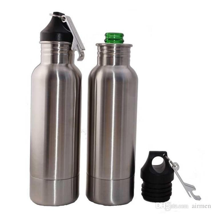 Bouteille de bière Armor Koozie Keeper Keeper en acier inoxydable Armor Bottle Isolant Koozie avec décapsuleur DHL FEDEX gratuit