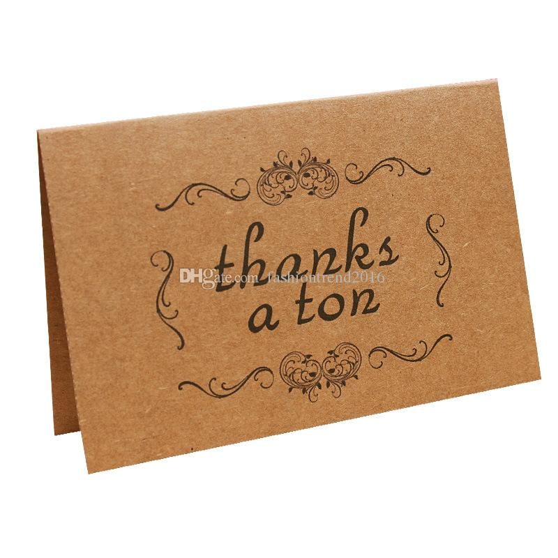 vintage kraft thank you cards for thanksgiving day birthday vintage kraft thank you cards for thanksgiving day birthday christmas card writing paper stationery wedding party diy greeting cards happy birthday cards