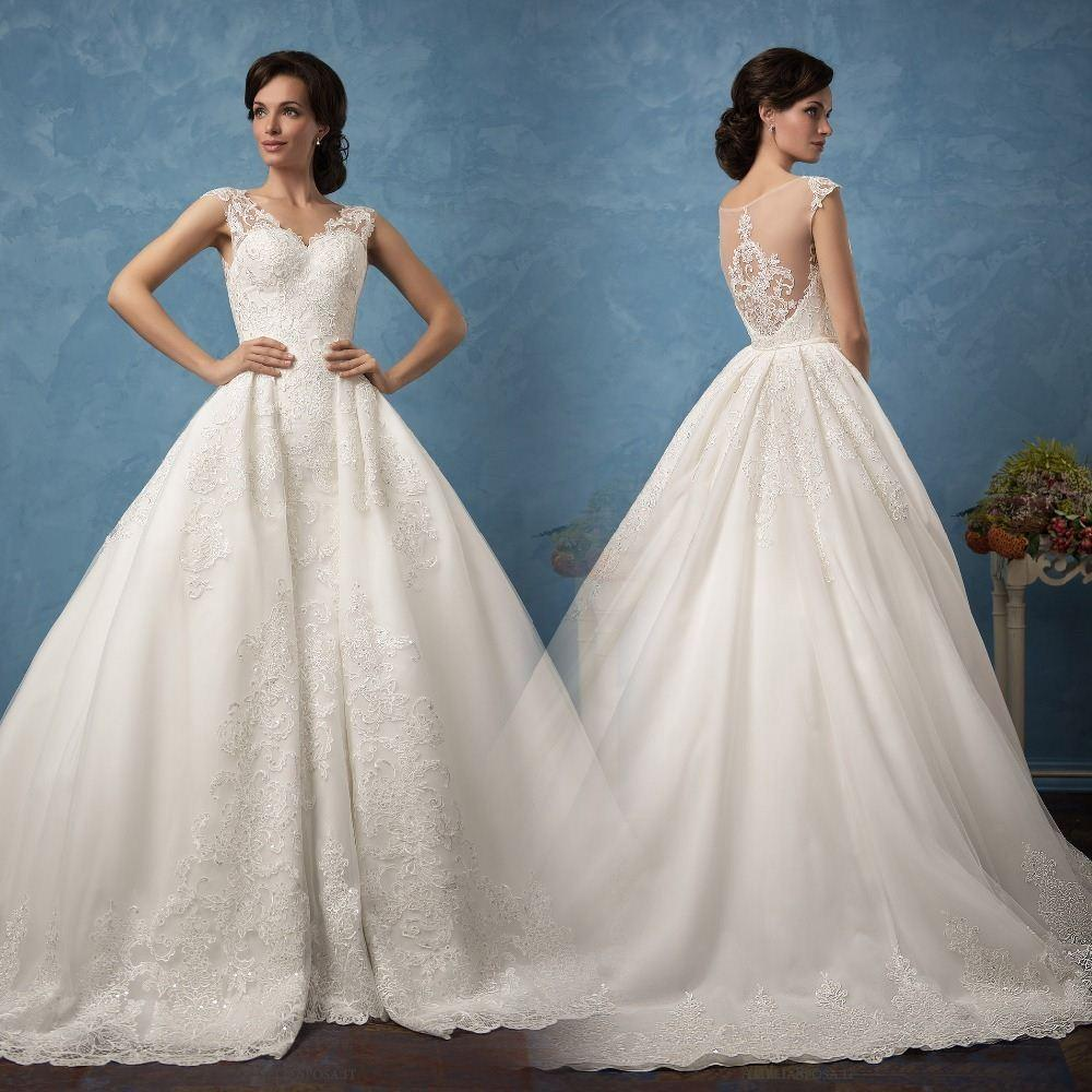 Discount New Fashion Detachable Layered Wedding Dress Sweetheart ...