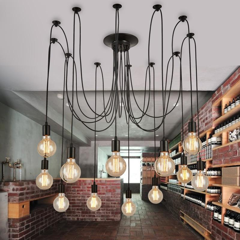 5 6 8 lights lustre retro chandelier loft light pendant lights wrought iron lamps ac 85v 260v. Black Bedroom Furniture Sets. Home Design Ideas